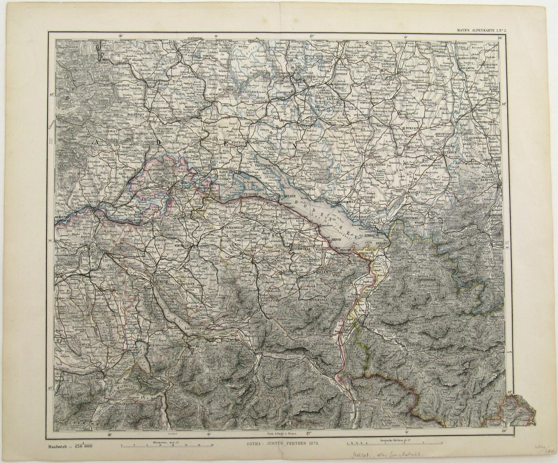 Landkarte Mayr Stieler Bodensee Region