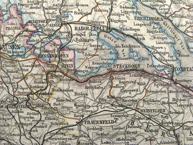Insel Reichenau Karte.Landkarte Mayr Stieler Bodensee Region