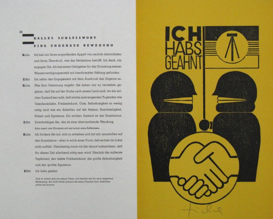 Exceptionnel Hans Ticha Holzschnitt Zu Bertolt Brecht Kalles Schlusswort Aus  Flüchtlingsgespräche