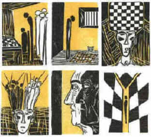 Stefan Zweig Schachnovelle The Royal Game chess story woodcuts by Elke Rehder