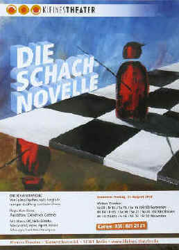 Stefan Zweig theatre poster to the chess story The Royal Game Schachnovelle in Berlin 2012 and 2013