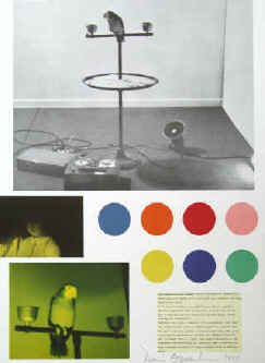 Dennis Oppenheim - Color applications for Chandra. Original color offset lithograph, print signed by Dennis Oppenheim 1977.