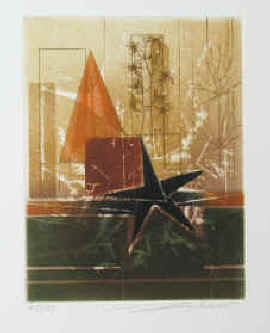artiste Renée Lubarow - Composition, color etching, numbered and signed by Renée Lubarow.