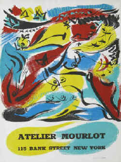 Art exhibition poster - Andre Masson - Atelier Mourlot, Bank Street New York.