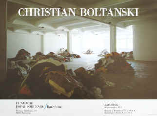 Art exhibition poster - Christian Boltanski. Color poster for the exhibition from May - September 1994 at Fundacio Espai Poblenou, Barcelona.