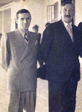 the publisher Abraham Koogan together with Stefan Zweig in 1936