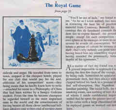 The Royal Game illustration on page 96