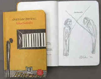 Stefan Zweig Chess Story with cover illustration and original pencil drawing signed by the artist Elke Rehder