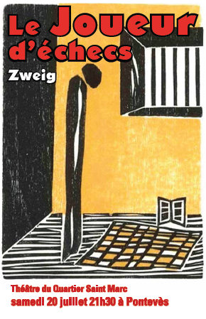 Stefan Zweig theatre poster Chess Story - The Royal Game in France